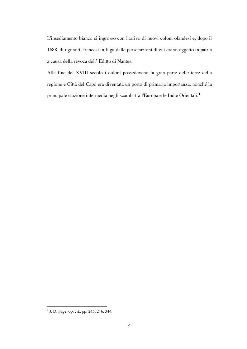Anteprima della tesi: Storia del Sudafrica e dell'Apartheid, Pagina 3
