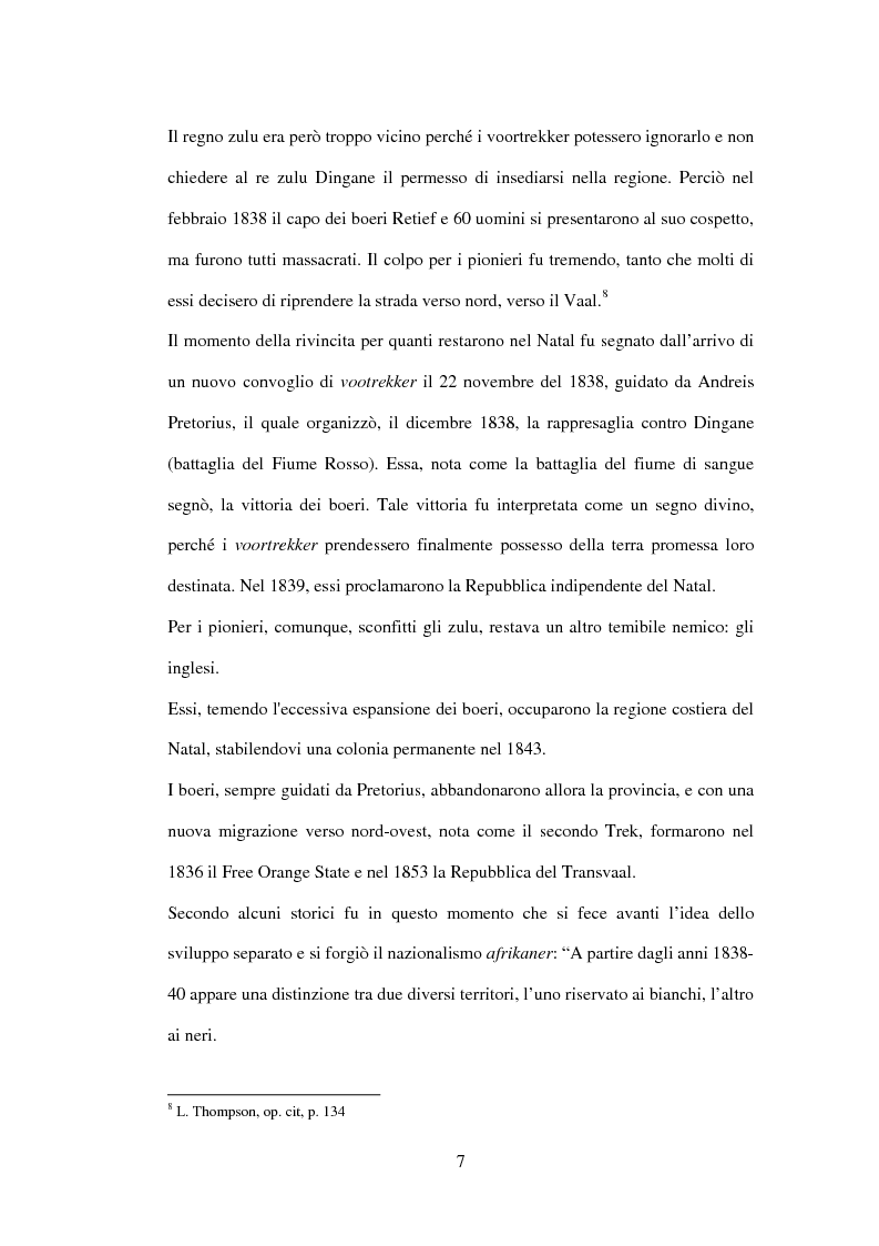Anteprima della tesi: Storia del Sudafrica e dell'Apartheid, Pagina 6