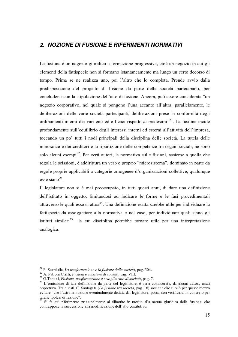Anteprima della tesi: La fusione nella riforma del diritto societario, Pagina 12