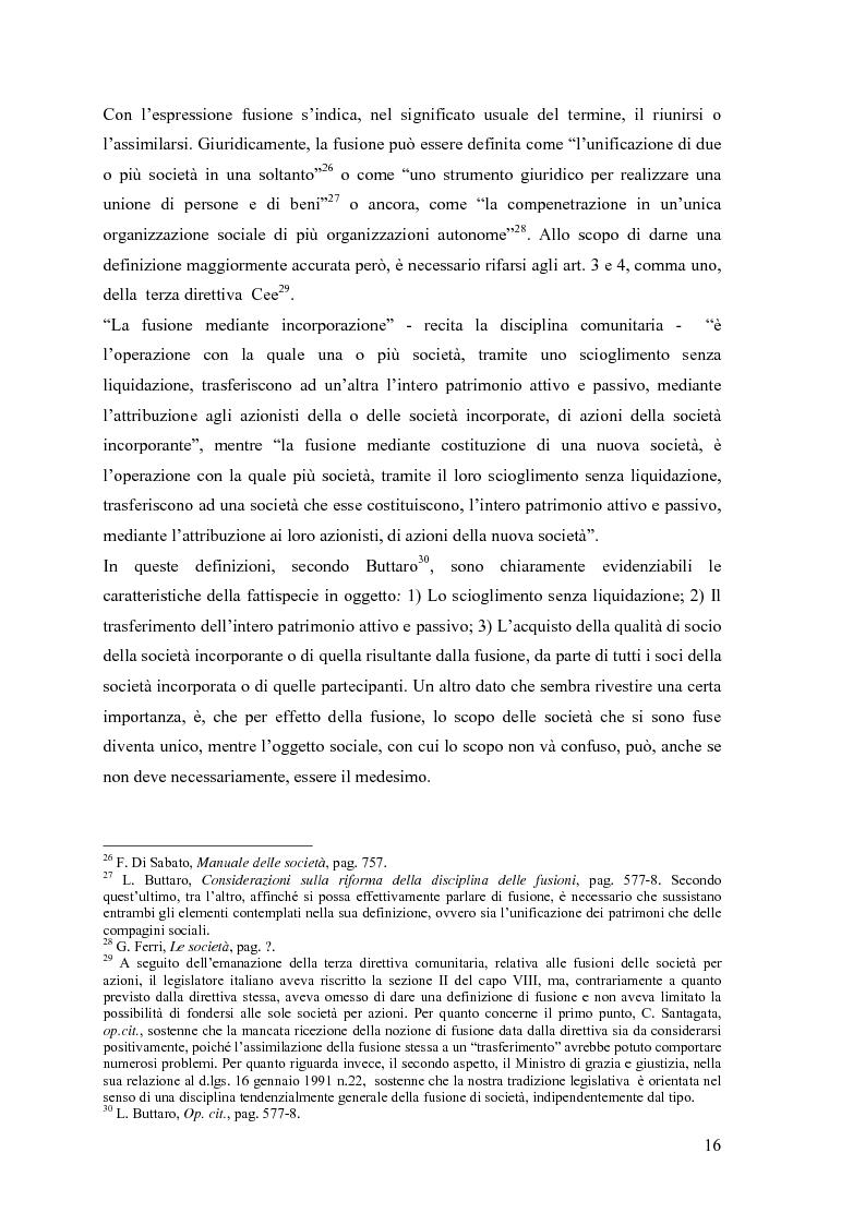 Anteprima della tesi: La fusione nella riforma del diritto societario, Pagina 13