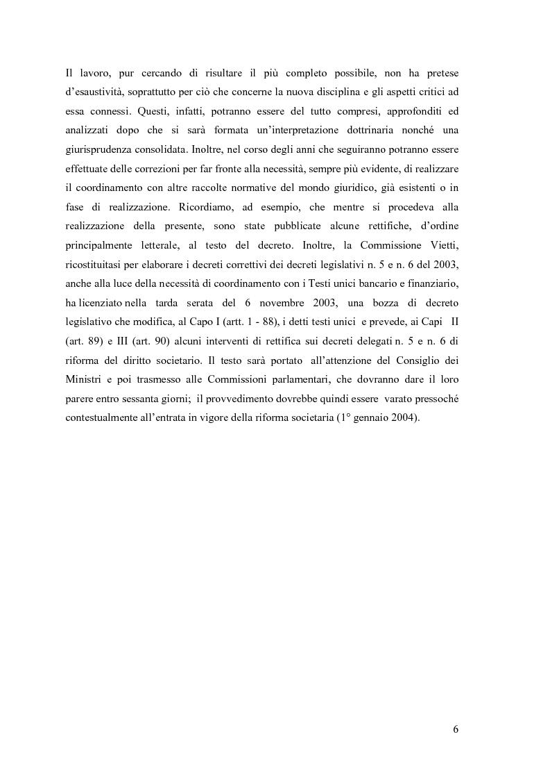 Anteprima della tesi: La fusione nella riforma del diritto societario, Pagina 3