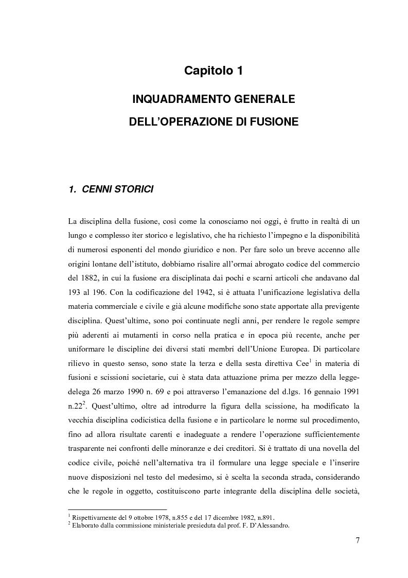 Anteprima della tesi: La fusione nella riforma del diritto societario, Pagina 4