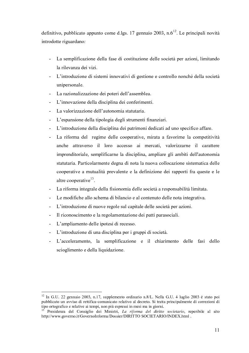 Anteprima della tesi: La fusione nella riforma del diritto societario, Pagina 8