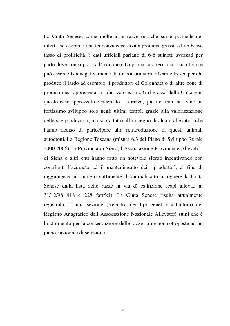 Anteprima della tesi: Come il diverso livello proteico della dieta influenza le caratteristiche chimico fisiche della carne suina in animali cinta senese, Pagina 4