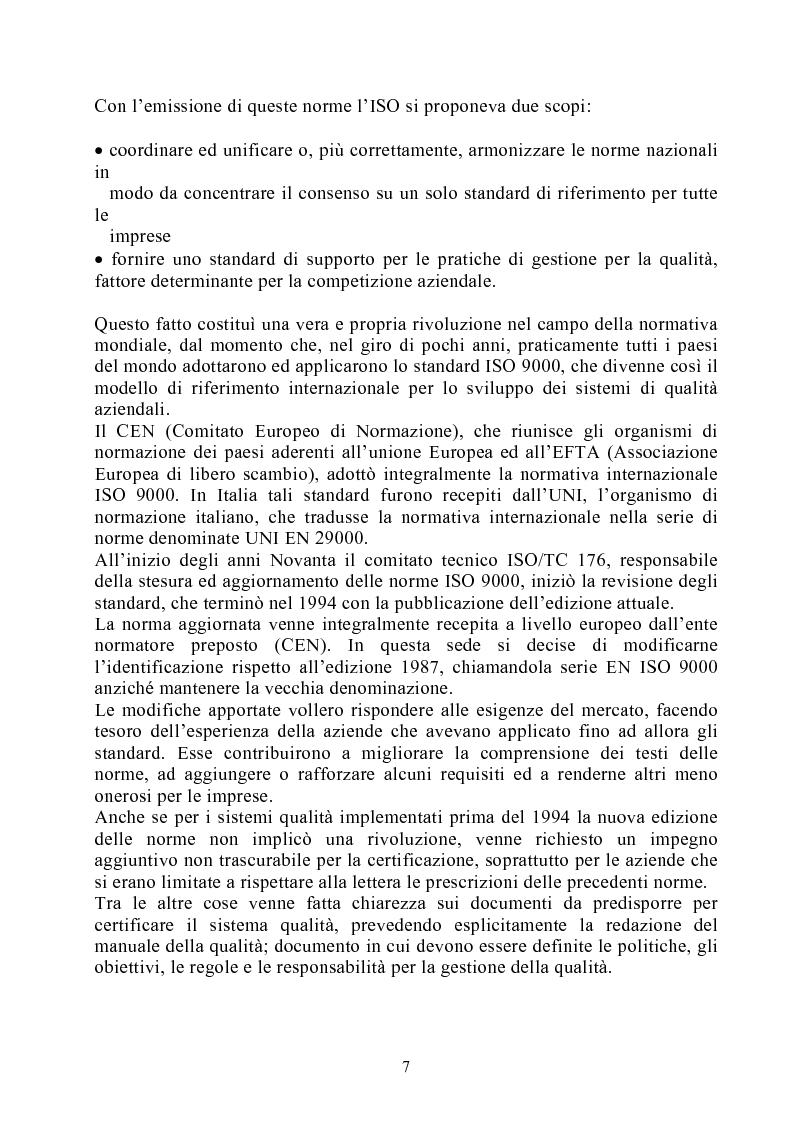 Anteprima della tesi: Risultati dei sistemi di qualità nelle aziende agroalimentari del Veneto, Pagina 2