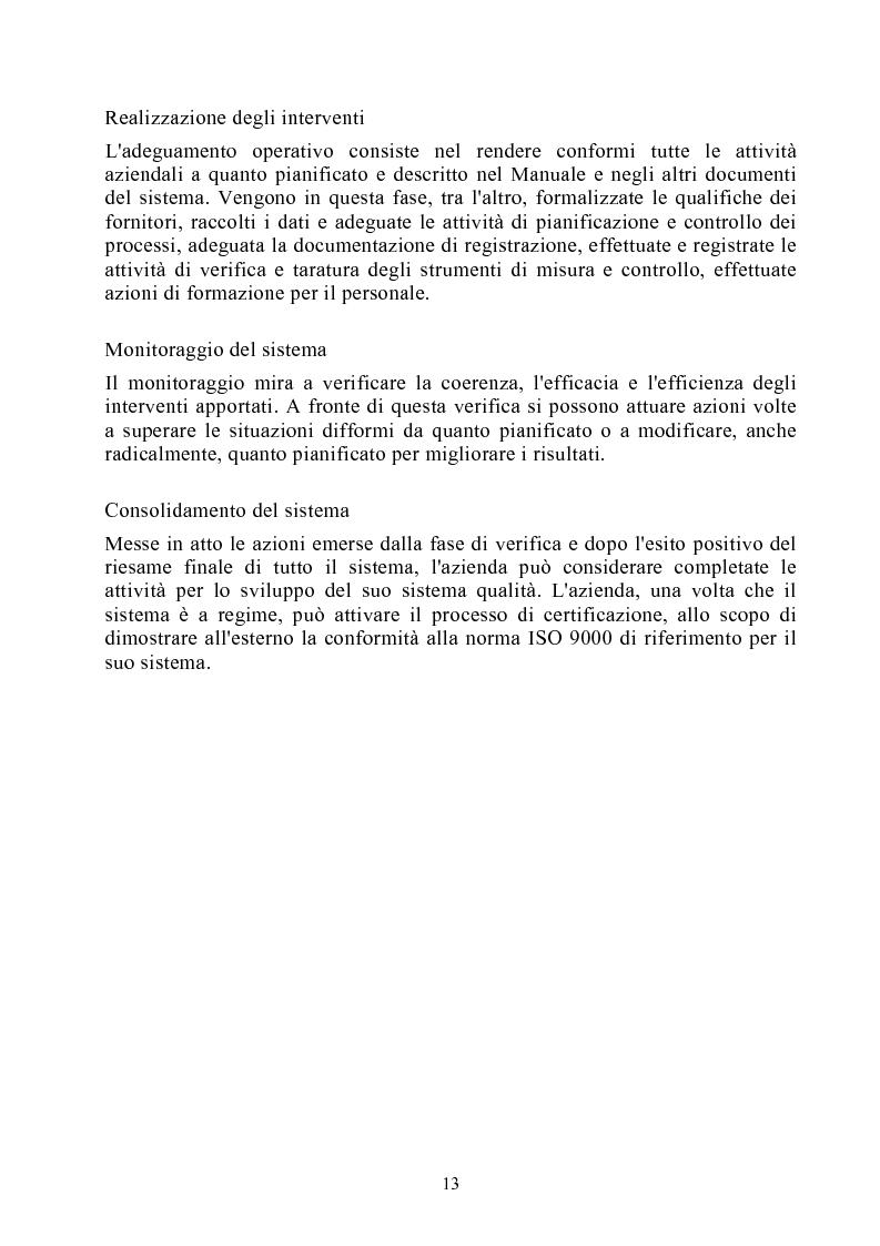 Anteprima della tesi: Risultati dei sistemi di qualità nelle aziende agroalimentari del Veneto, Pagina 8