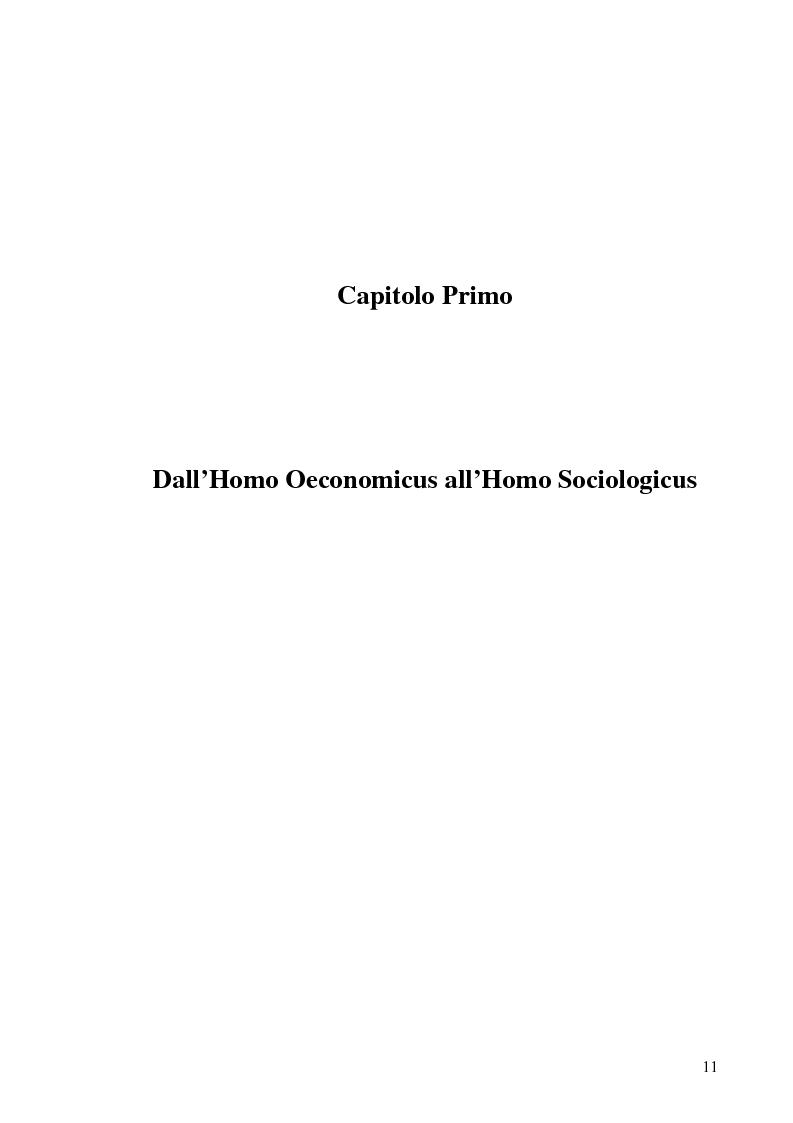 Anteprima della tesi: Altruismo, etica e modelli economici: un'analisi dei recenti contributi, Pagina 9