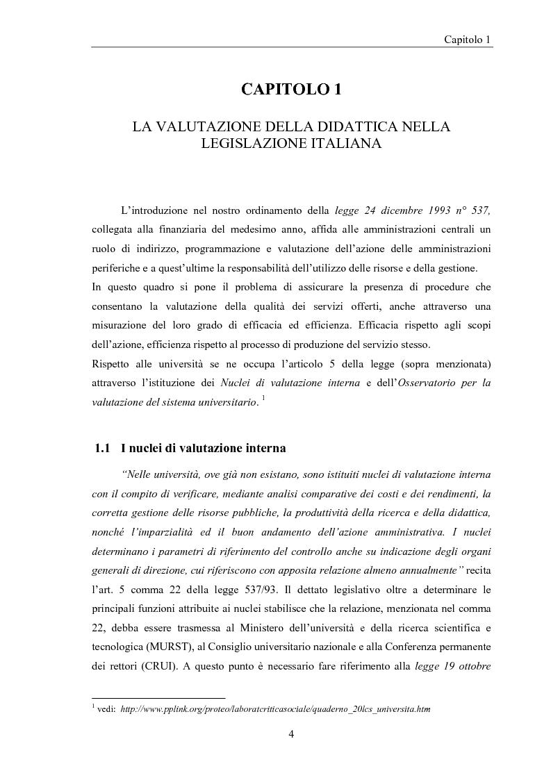 Anteprima della tesi: La valutazione della didattica dell'ateneo Modenese. Un approccio fuzzy, Pagina 3