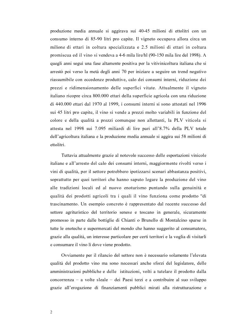 Anteprima della tesi: Evoluzione strutturale e legislativa del comparto vitivinicolo nazionale: il caso dei vini Doc della Maremma grossetana, Pagina 2
