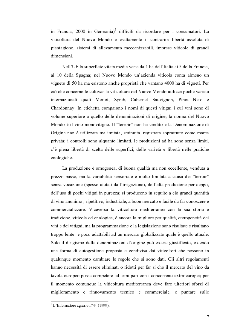 Anteprima della tesi: Evoluzione strutturale e legislativa del comparto vitivinicolo nazionale: il caso dei vini Doc della Maremma grossetana, Pagina 7