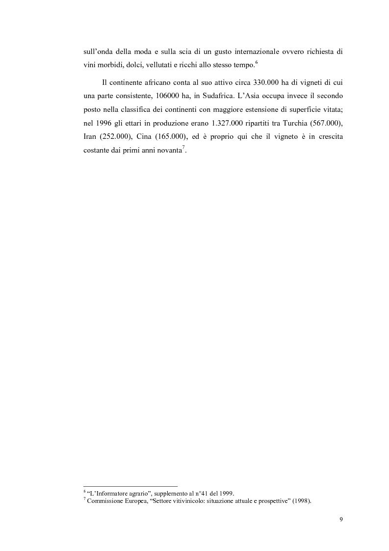 Anteprima della tesi: Evoluzione strutturale e legislativa del comparto vitivinicolo nazionale: il caso dei vini Doc della Maremma grossetana, Pagina 9