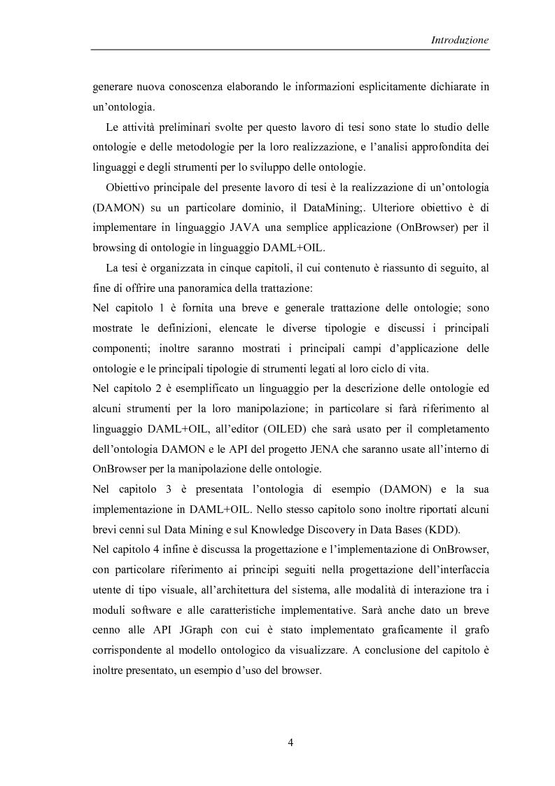 Anteprima della tesi: Visualizzazione ed elaborazione di ontologie: un'applicazione per la selezione di strumenti di data mining, Pagina 4