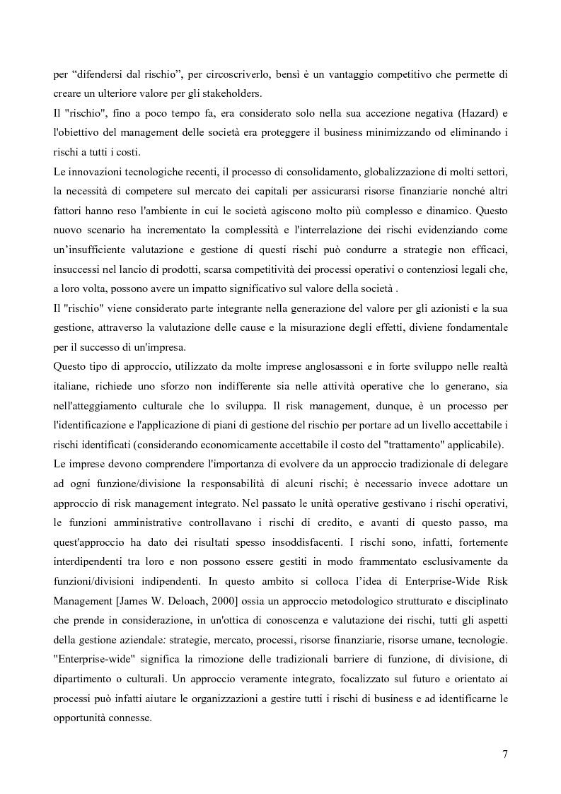 Anteprima della tesi: Risk assessment: analisi di un caso di studio, Pagina 2
