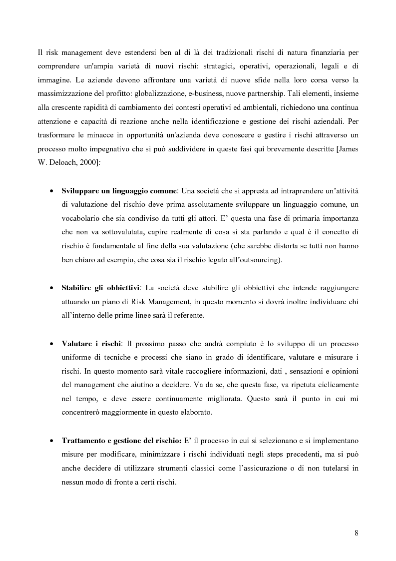 Anteprima della tesi: Risk assessment: analisi di un caso di studio, Pagina 3