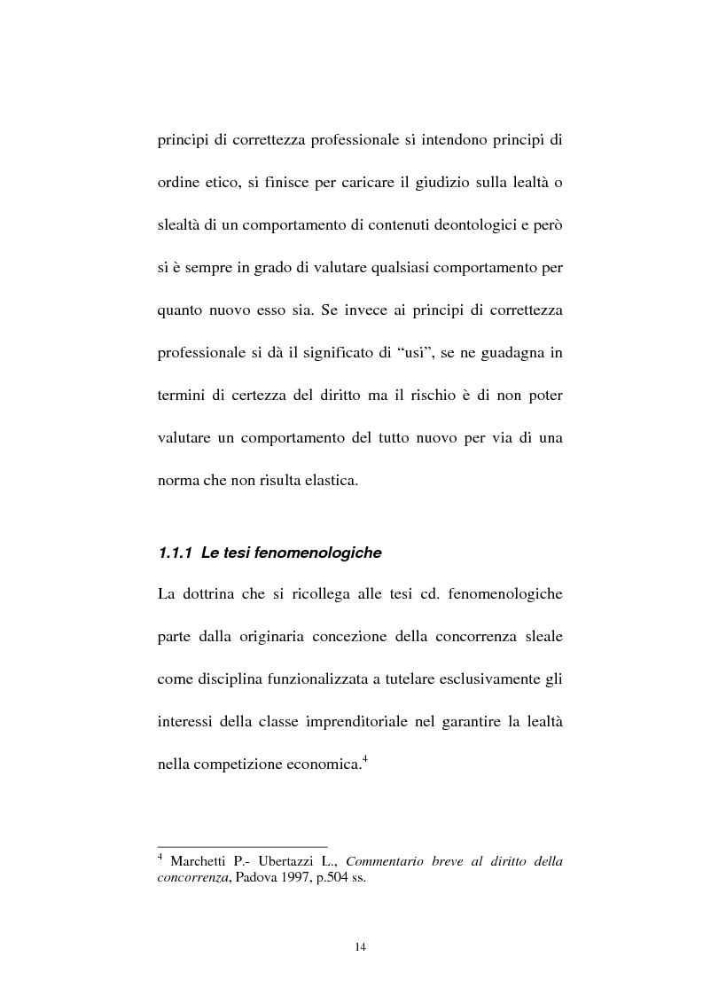 Anteprima della tesi: La vendita sottocosto come fattispecie atipica di concorrenza sleale, Pagina 12