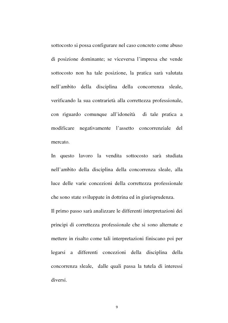 Anteprima della tesi: La vendita sottocosto come fattispecie atipica di concorrenza sleale, Pagina 7