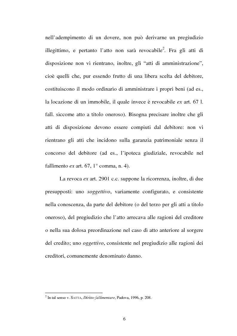 Anteprima della tesi: La revocatoria fallimentare ed il pagamento del terzo, Pagina 3