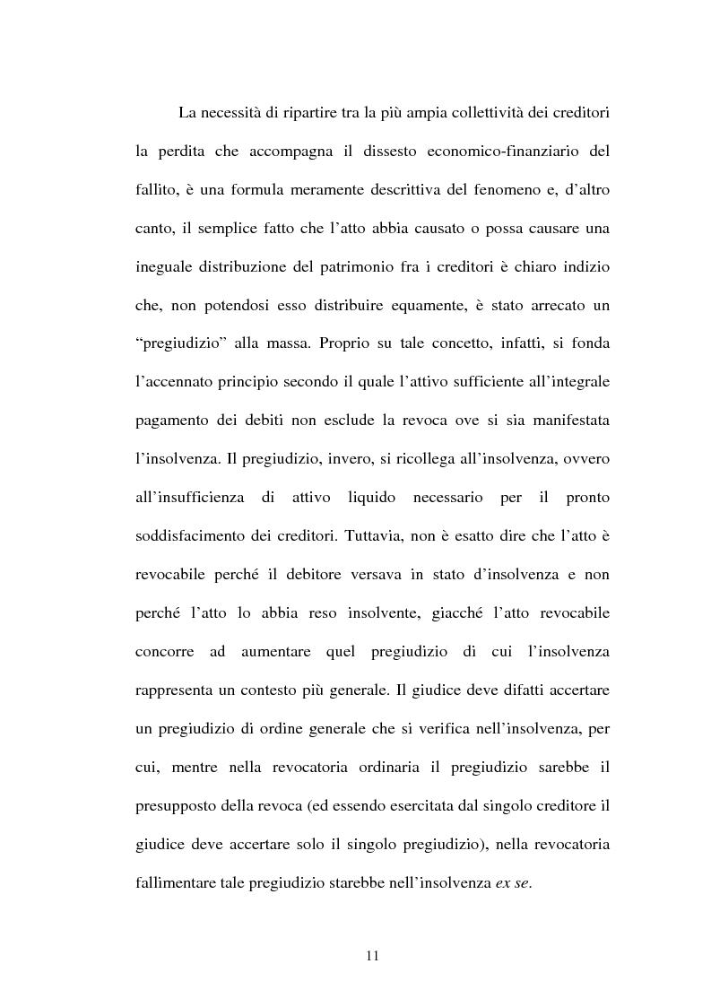 Anteprima della tesi: La revocatoria fallimentare ed il pagamento del terzo, Pagina 8