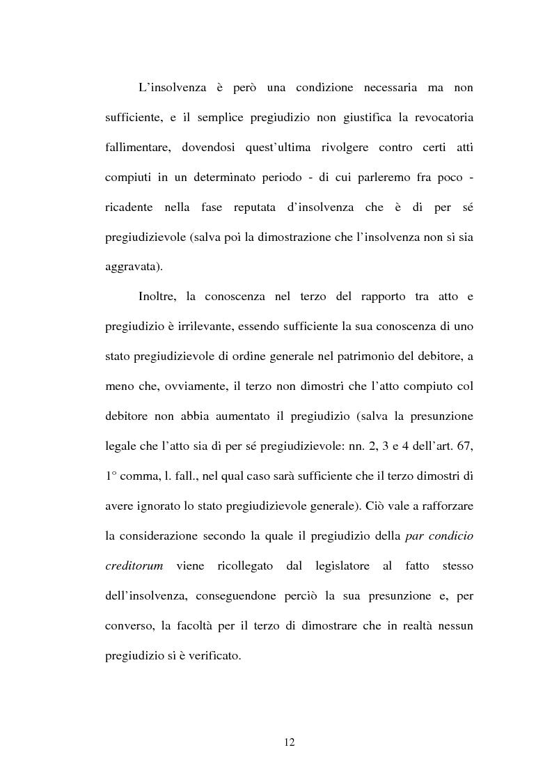 Anteprima della tesi: La revocatoria fallimentare ed il pagamento del terzo, Pagina 9