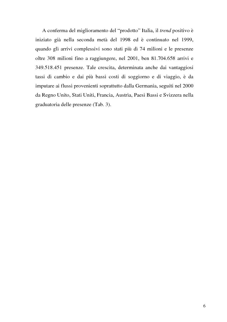 Anteprima della tesi: Il ruolo dell'organizzazione turistica pubblica per la competitività del sistema turistico europeo, Pagina 6