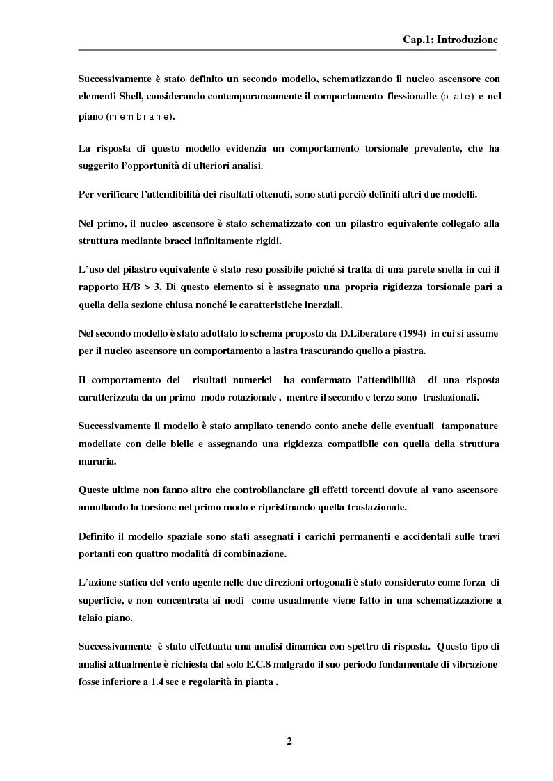 Anteprima della tesi: La modellazione del nucleo ascensore nella progettazione di un edificio intelaiato di cemento armato, Pagina 2