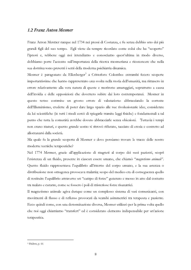 Anteprima della tesi: La psicoterapia ipnotica: Milton H. Erickson e i neo-ericksoniani, Pagina 6