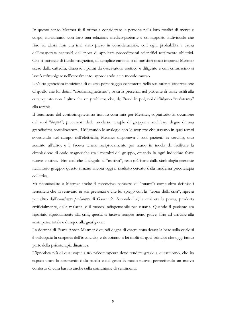 Anteprima della tesi: La psicoterapia ipnotica: Milton H. Erickson e i neo-ericksoniani, Pagina 7