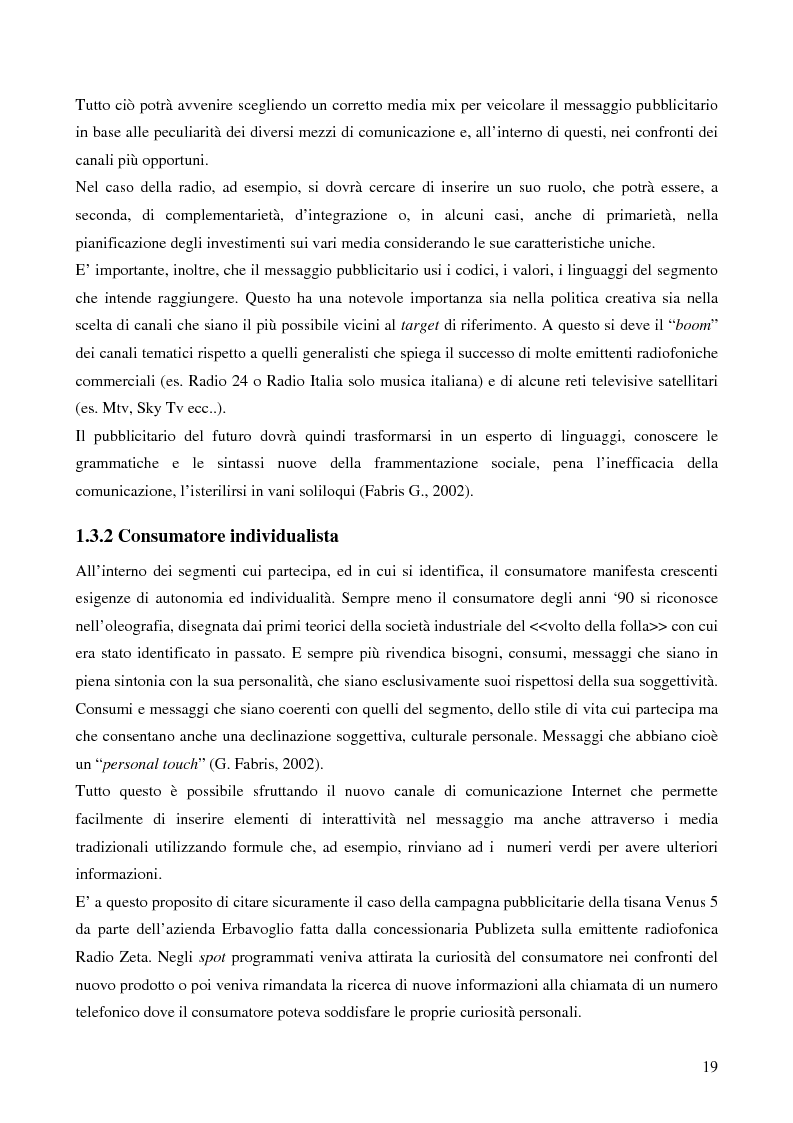 Anteprima della tesi: Le potenzialità promozionali del settore radiofonico, Pagina 15