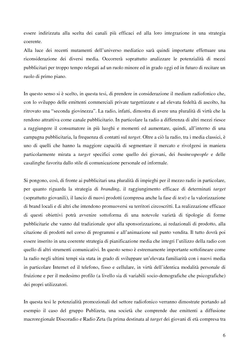 Anteprima della tesi: Le potenzialità promozionali del settore radiofonico, Pagina 2