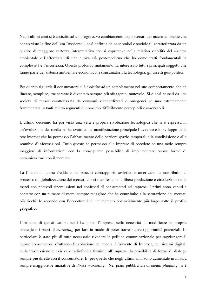Anteprima della tesi: Le potenzialità promozionali del settore radiofonico, Pagina 5