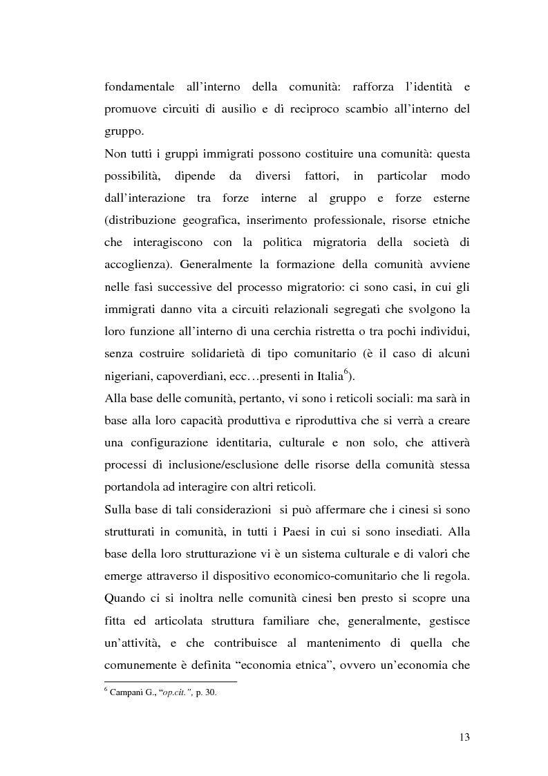 Anteprima della tesi: Comunità cinesi: analisi nell'area barese, Pagina 10