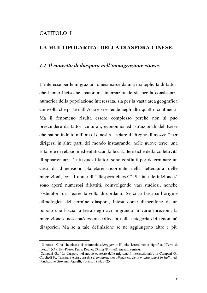 Anteprima della tesi: Comunità cinesi: analisi nell'area barese, Pagina 6