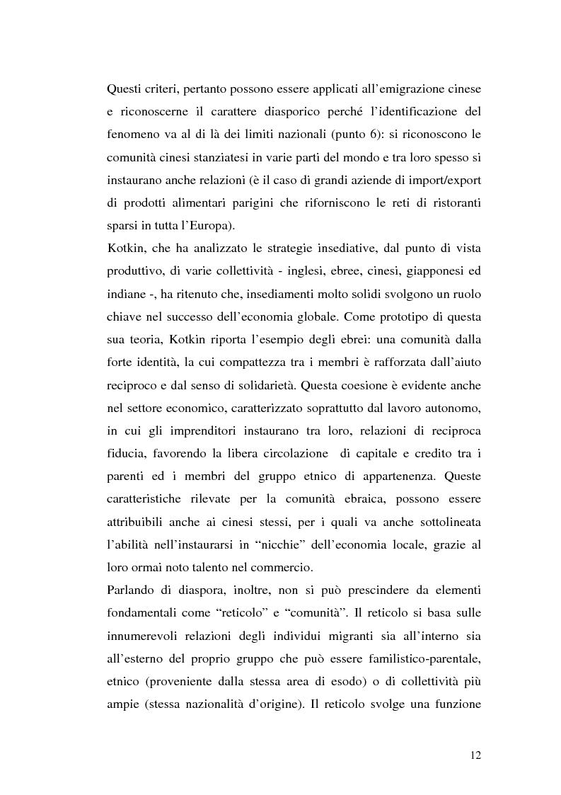 Anteprima della tesi: Comunità cinesi: analisi nell'area barese, Pagina 9