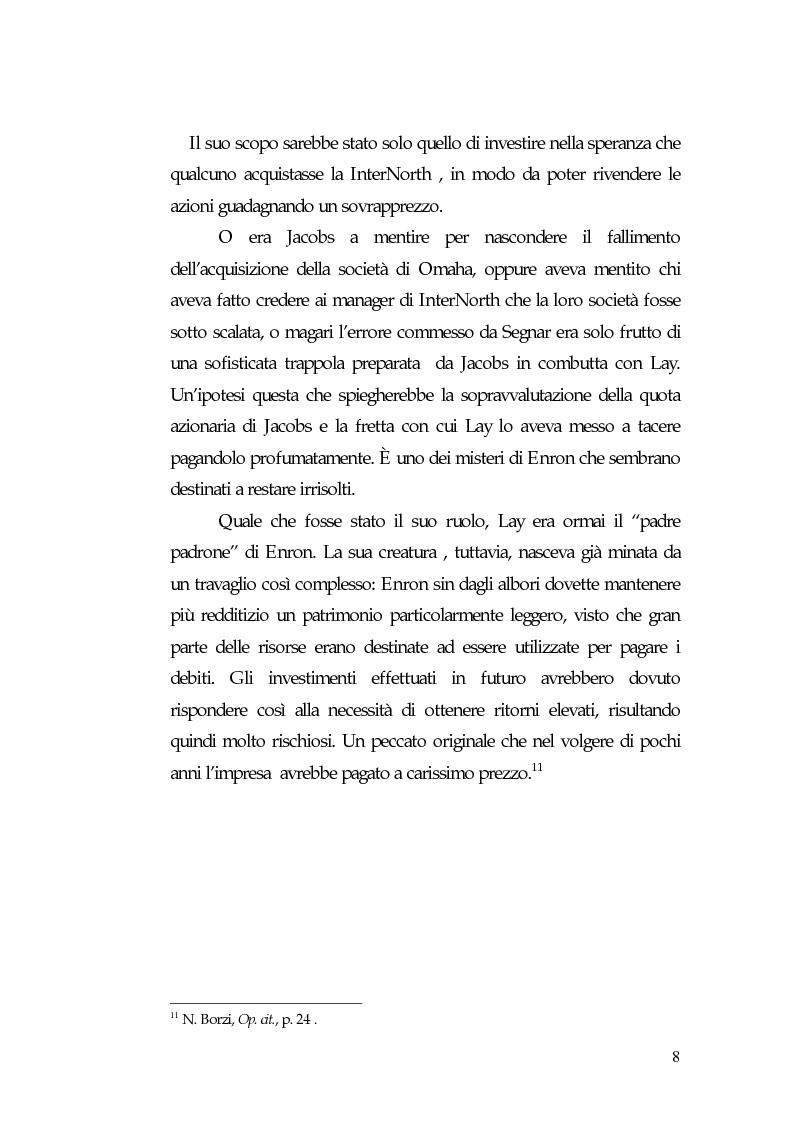 Anteprima della tesi: Principi di governance negli Usa: il caso Enron, Pagina 10