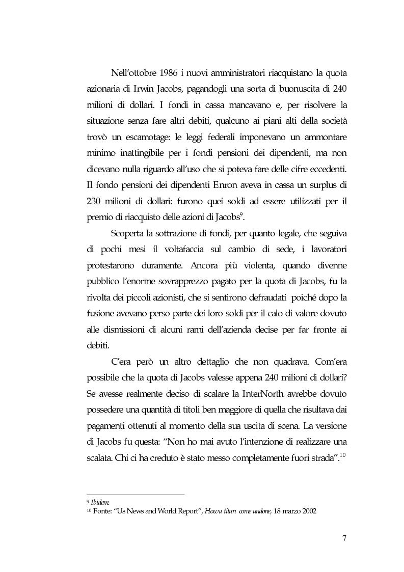 Anteprima della tesi: Principi di governance negli Usa: il caso Enron, Pagina 9