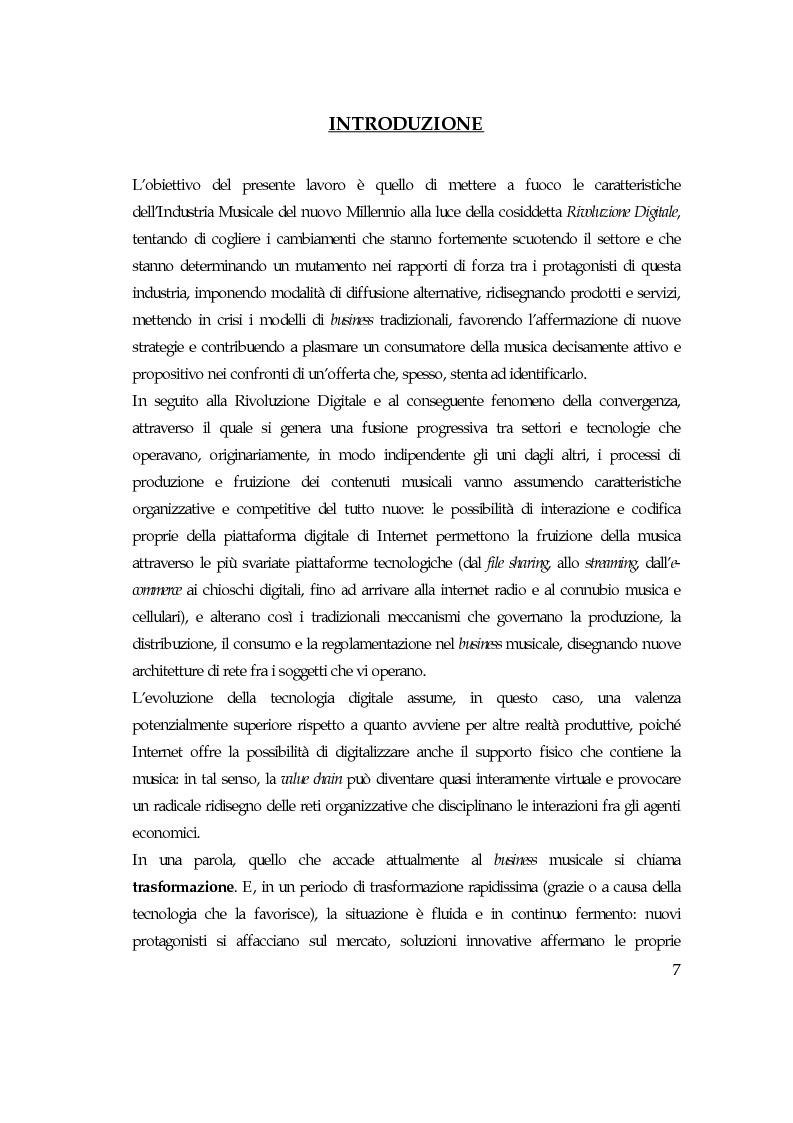 Anteprima della tesi: Convergenza digitale: un'analisi nel settore musicale, Pagina 1