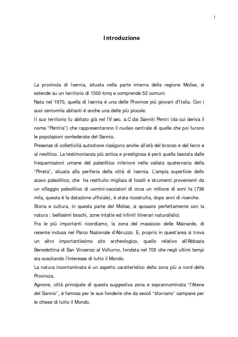 Anteprima della tesi: L'evoluzione della popolazione della Provincia di Isernia dal 1970, anno della sua costituzione, ad oggi, Pagina 1