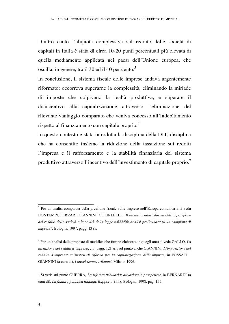 Anteprima della tesi: I profili antielusivi nella disciplina della ''Dual income tax''. Analisi di un microsistema, Pagina 10