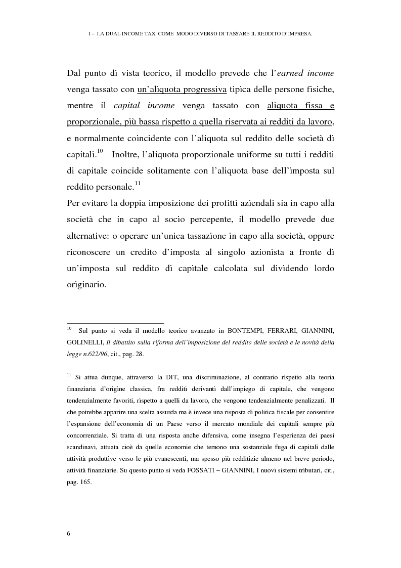 Anteprima della tesi: I profili antielusivi nella disciplina della ''Dual income tax''. Analisi di un microsistema, Pagina 12