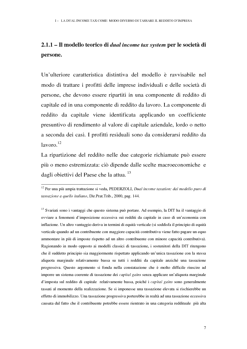 Anteprima della tesi: I profili antielusivi nella disciplina della ''Dual income tax''. Analisi di un microsistema, Pagina 13