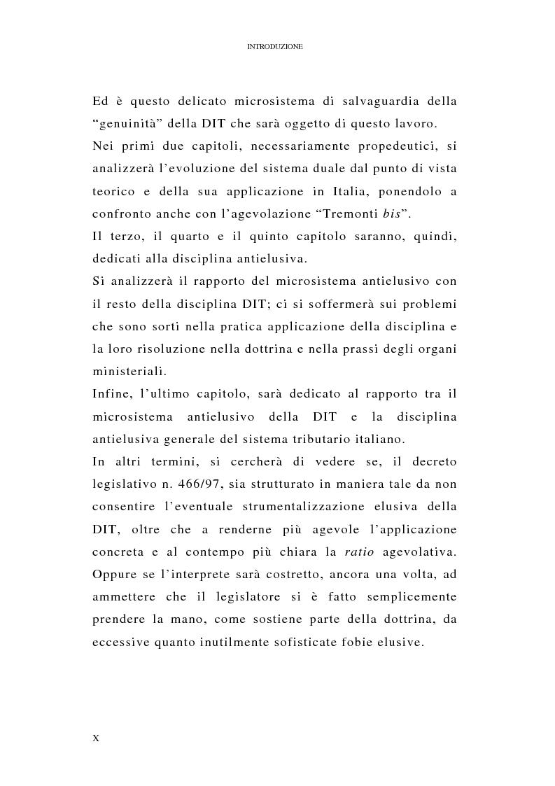 Anteprima della tesi: I profili antielusivi nella disciplina della ''Dual income tax''. Analisi di un microsistema, Pagina 6