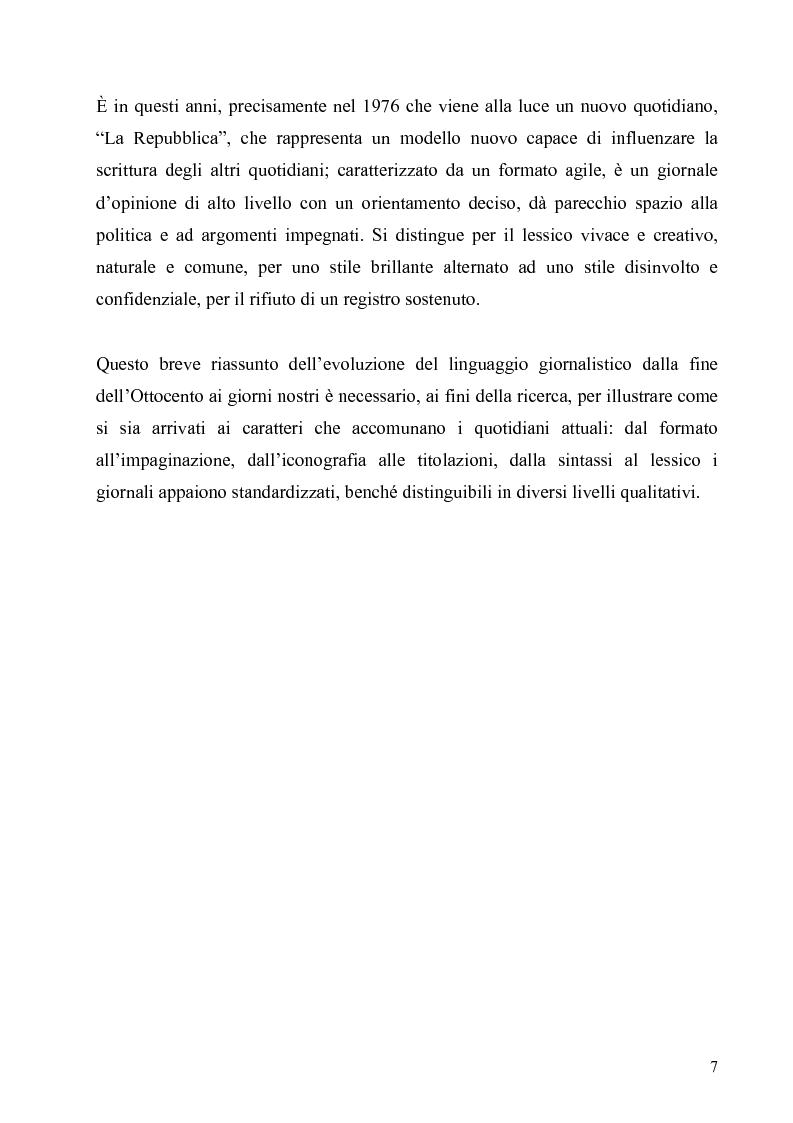 Anteprima della tesi: ''Il Foglio'' e ''Il Riformista'': analisi di fenomeni linguistici, Pagina 5