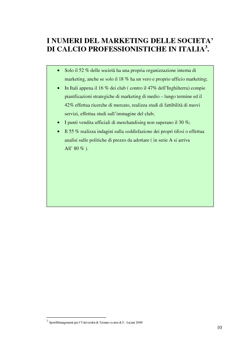Anteprima della tesi: Gestione delle società di calcio professionistiche: confronto tra la Juventus F.C. ed il benchmark Manchester United, Pagina 10