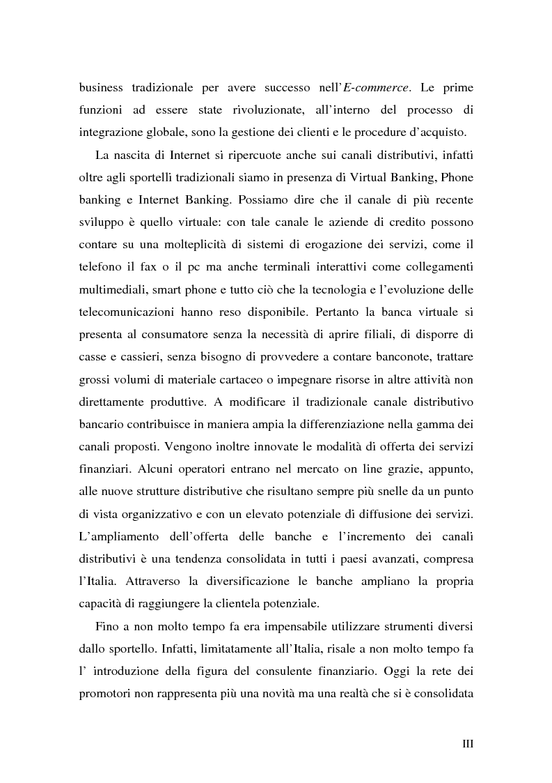 Anteprima della tesi: L'impatto di Internet sul risparmio, Pagina 3