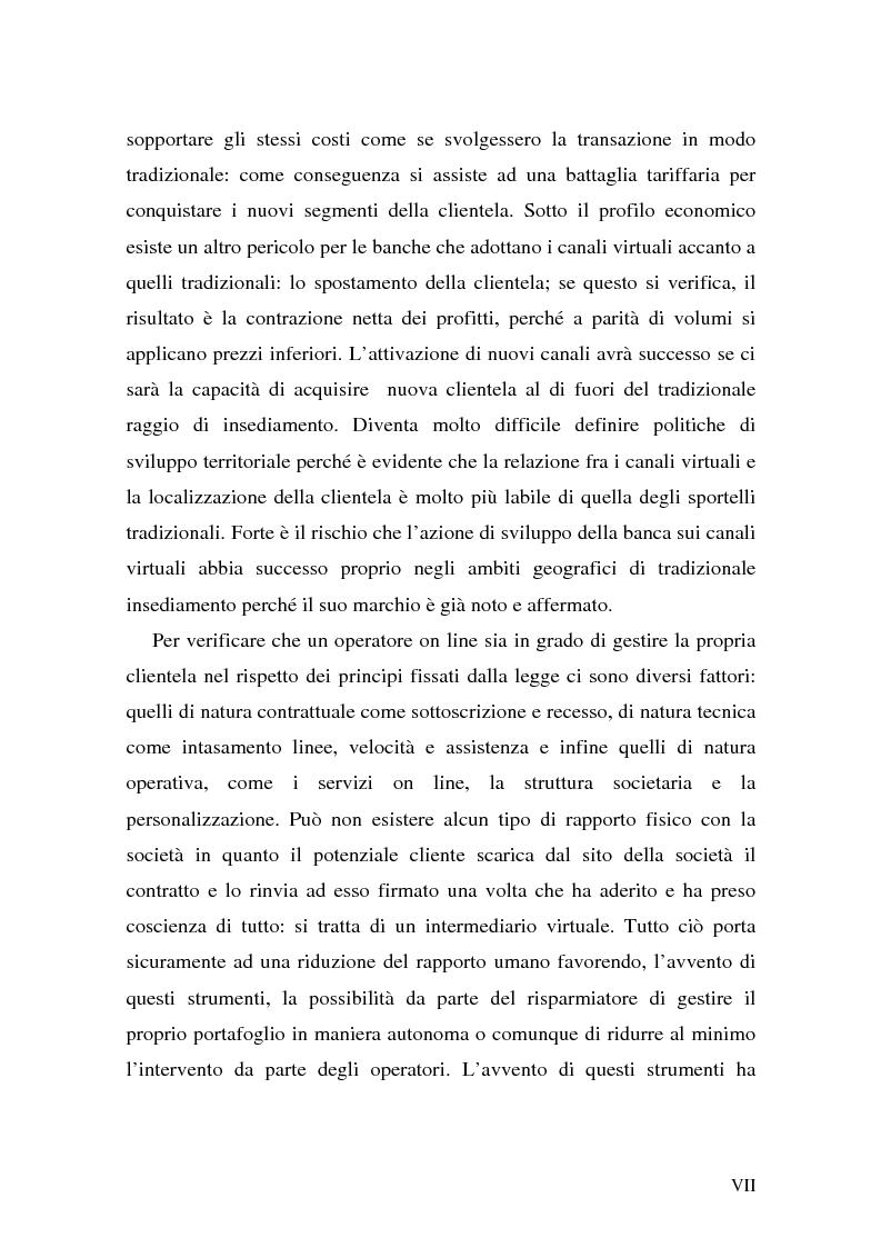 Anteprima della tesi: L'impatto di Internet sul risparmio, Pagina 7