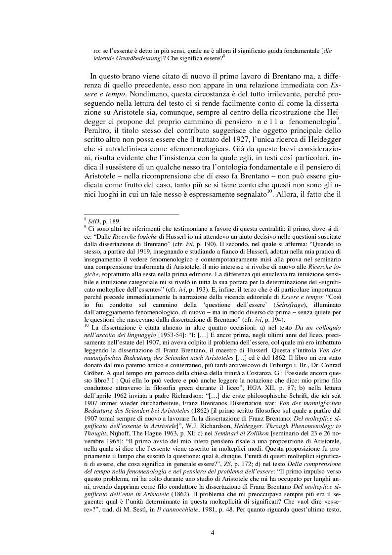 Anteprima della tesi: La questione dell'analogia in M. Heidegger, Pagina 4