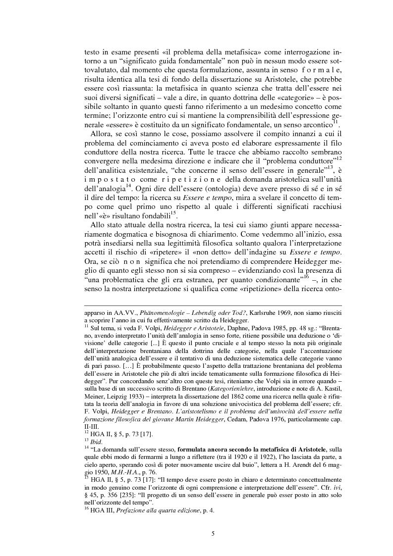 Anteprima della tesi: La questione dell'analogia in M. Heidegger, Pagina 5