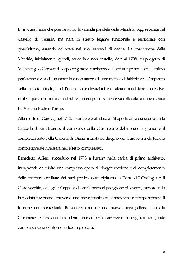 Anteprima della tesi: Un esempio di collaborazione tra museografia e resturo: l'allestimento degli spazi espositivi della Reggia di Veneria Reale all'interno del progetto di restauro e valorizzazione del Circuito delle Residenze Sabaude, Pagina 6