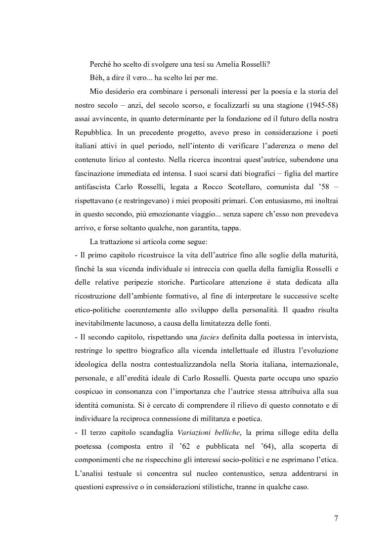 Anteprima della tesi: ''...irrimediabile era il male del mondo, e con ciò il mio male...'': storia, Storia e prima poesia (1930-1961) di Amelia Rosselli, Pagina 2