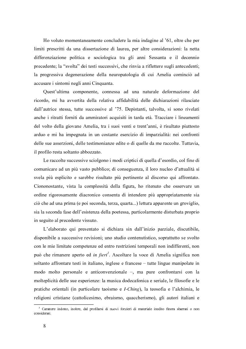 Anteprima della tesi: ''...irrimediabile era il male del mondo, e con ciò il mio male...'': storia, Storia e prima poesia (1930-1961) di Amelia Rosselli, Pagina 3